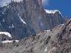The Flame - najbardziej odległy wierzchołek. Dobry dzień podejścia po bardzo skomplikowanym lodowcu - efektem jest zaledwie jedno wejście na szczyt