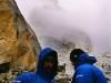Wawa i Maciek po biwaku aklimatyzacyjnym na 4900. Oj, dowaliło wtedy sniegu...
