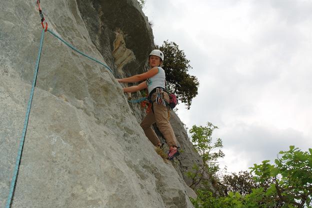 Ania Radziejowska na ostatnich metrach drogi na Monte Colt