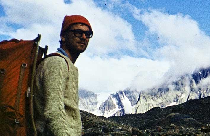 Jurek Jurkiewicz na lodowcu Nanth