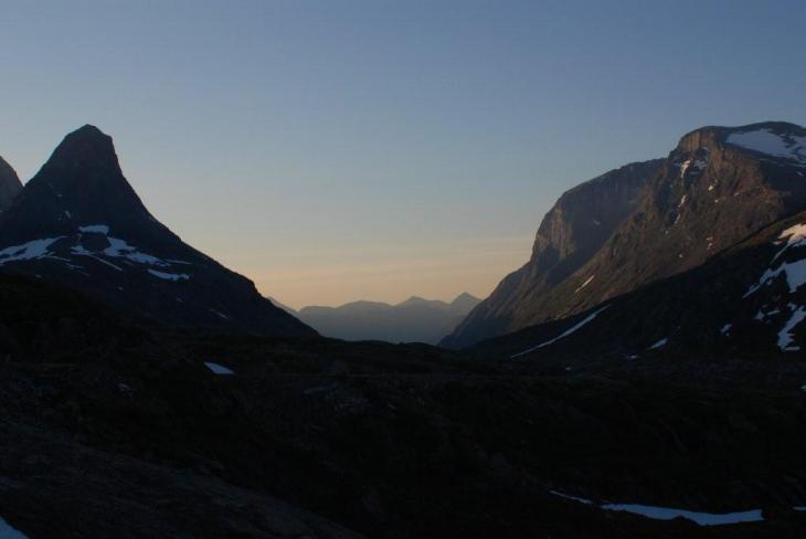 lodowce tu były (widok z trollstigen)