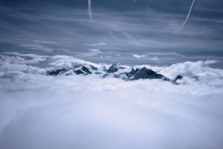 Monte Rosa - widok z Solvay Hutte. Najfajniej jest po!!!