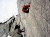 Wojtek na Children of the Moon, 6a, Aiguille de Roc