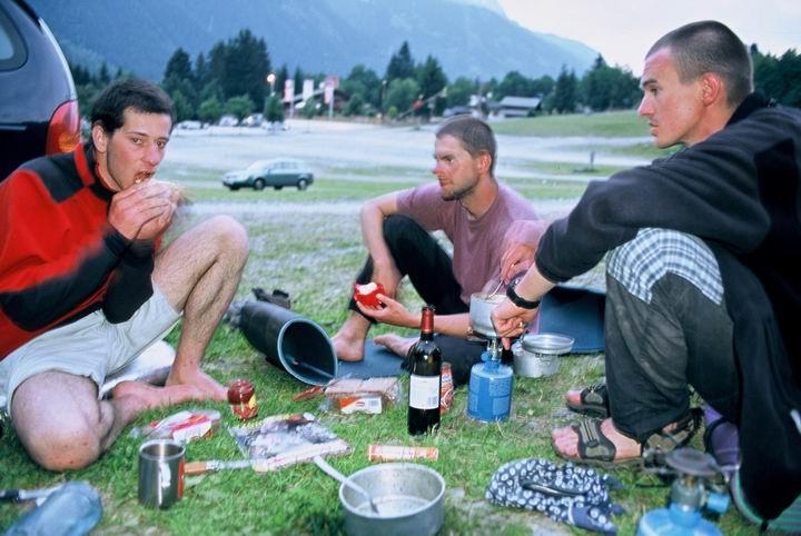Wojtek, Marek, Filip po zejsciu na nasz 'camp'