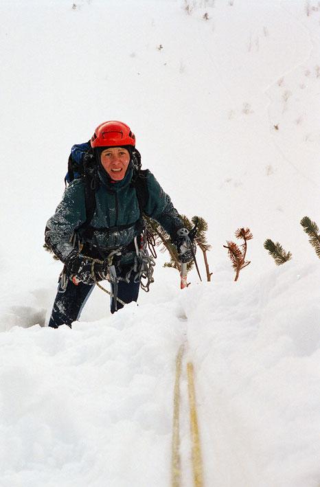Kobieta w górach...