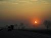 Brutalny koniec - wschód słońca na katowickiej.