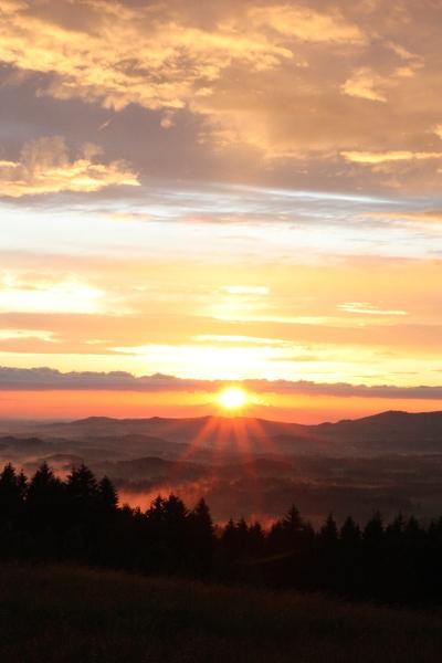 Zachód słońca w Rudawach II - Dobrochna Comi - Fidryk