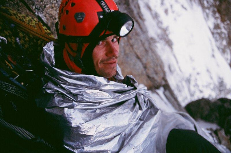 2005-08 Alpy Francuskie. Filar Walkera - biwak. Fot. Michał Kaspowicz