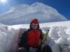 2009-08-01 Peru. Autoportret z biwaku podczas samotnego ekspresowego wejscia na Huascaran