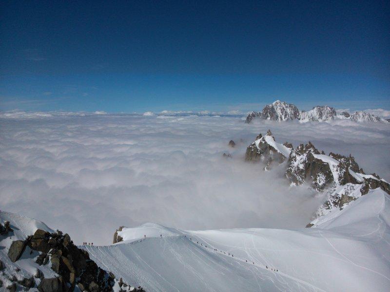 Krakowski smog w masywie Mont Blanc - wizualizacja