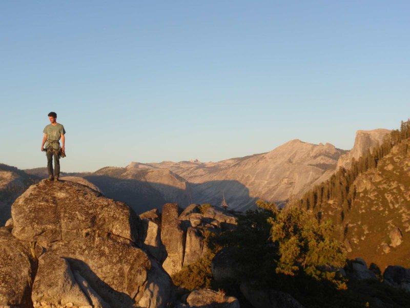 Widok z Sentinel Rock na Half Dome i okolice